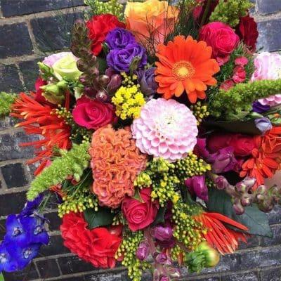 Brights Flower Bouquet Autumn Colours Battersea Flower Station Florist London