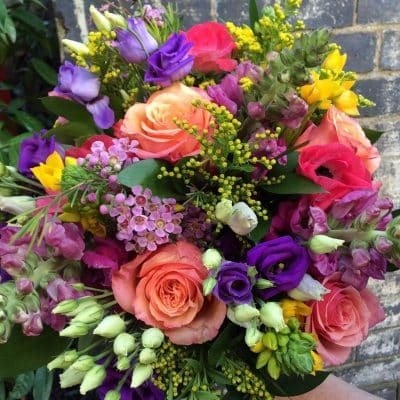 Brights Flower Bouquet Seasonal 1 Battersea Flower Station