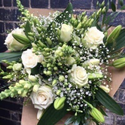 Seasonal White Flower Bouquet From Battersea Flower Station Florist London
