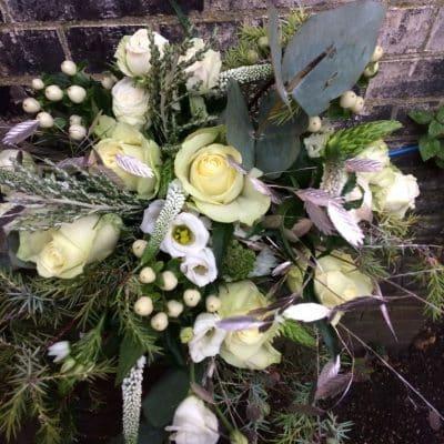 Seasonal Whites & Ivories Winter Bouquet Battersea Flower Station Florist London