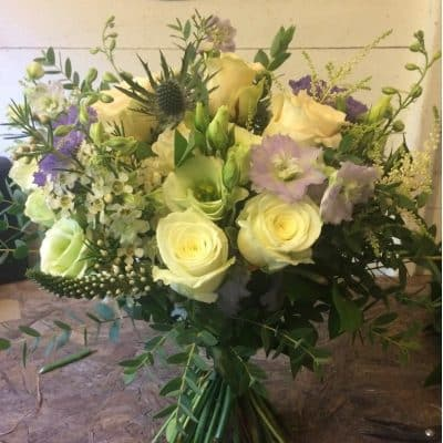 Bridal Bouquet Pale Battersea Flower Station Florist Weddings