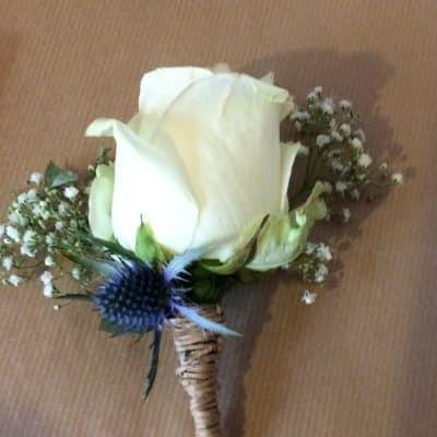 Wedding Button Hole Battersea Flower Station Florist London