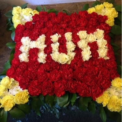 Funeral Letters Bright Mum Small Square