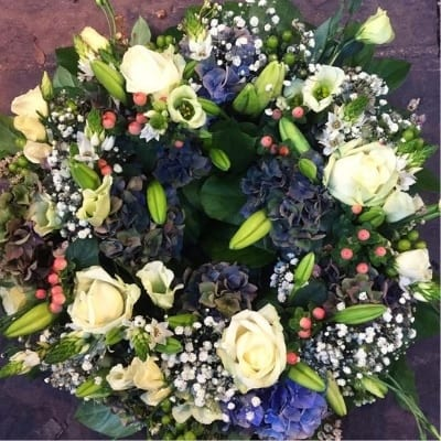 Funeral Wreath Whites Winter Small Square