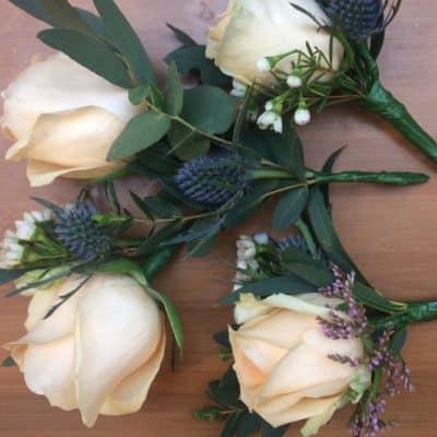 Wedding Button Hole Delicate Close Up Florist London