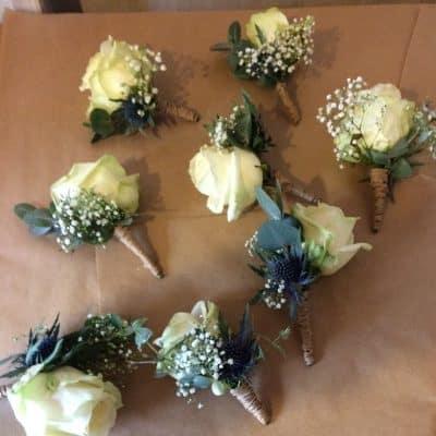 Wedding Button Holes Battersea Flower Station Florist London