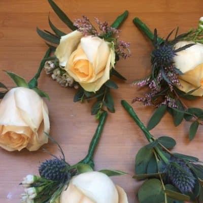 Wedding Button Holes Delicate Florist London