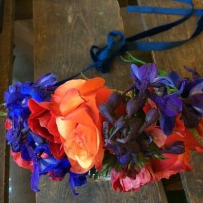 Wedding Flower Crown Colourful 1 Battersea Flower Station Florist London