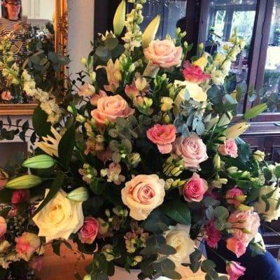 Wedding Table Arrangement Pinks Battersea Flower Station Florist