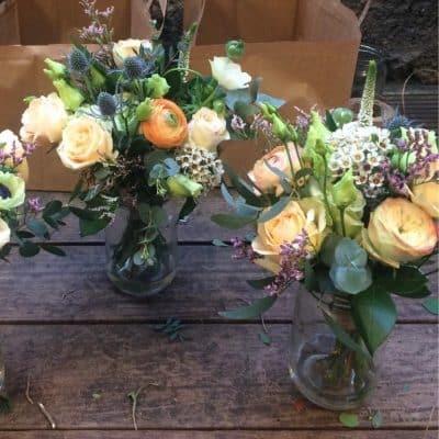 Wedding Table Arrangement Roses Ran Florist London