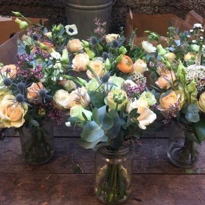 Wedding Table Arrangement Roses Ran 2 Florist London