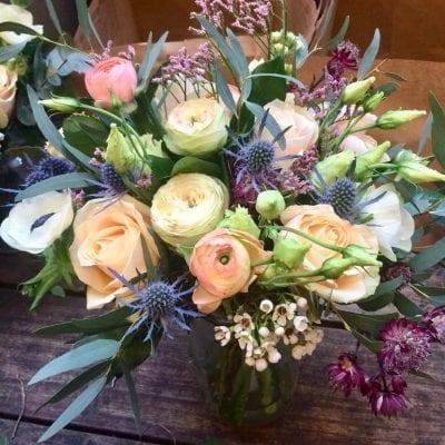 Wedding Table Arrangement Roses Ran 3 Wedding Florist London