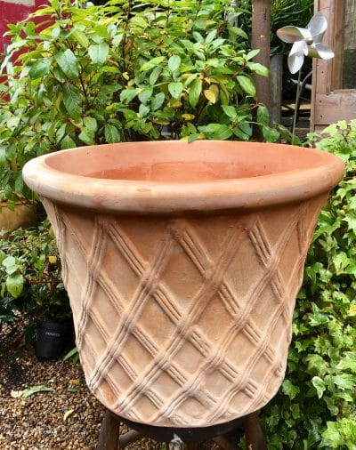 Terracotta Pot With Lattice Detail