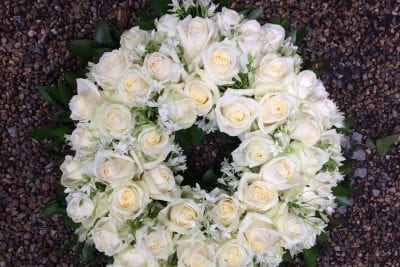 White Roses Funeral Arrangement Battersea Flower Station Florist