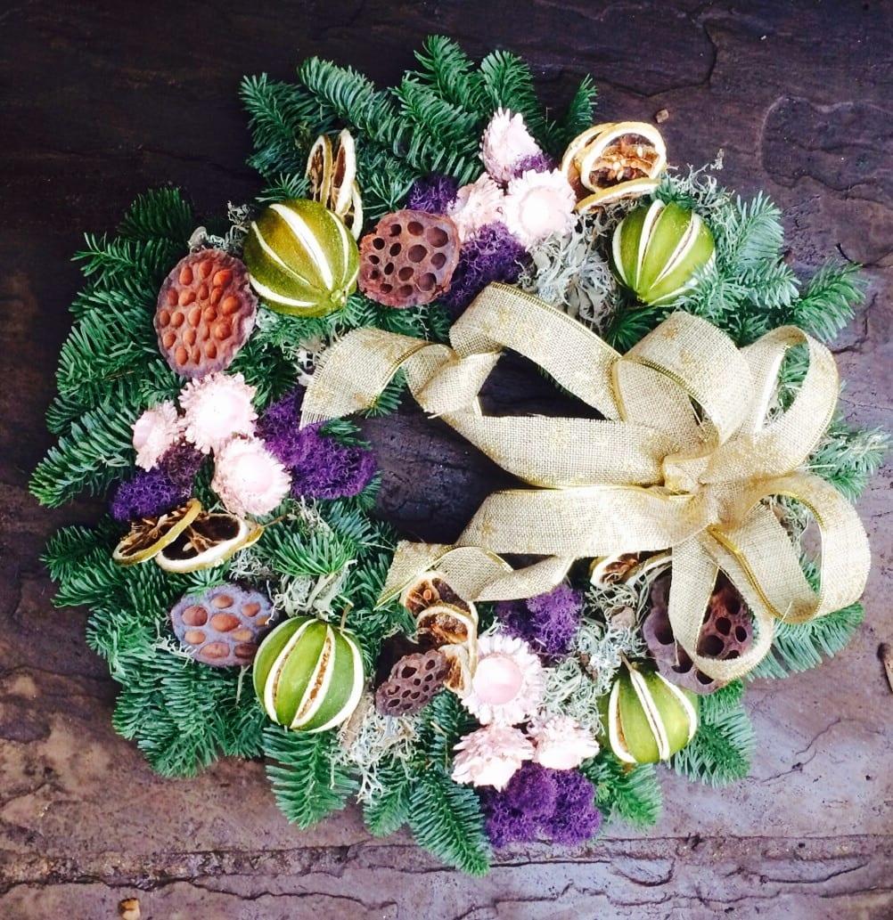 Handmade pastel wreath