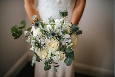 Stunning flowers for a beautiful wedding – photographed by Blue Lilly Weddings