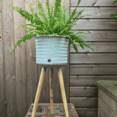 Tall Hand Made Woven Basket