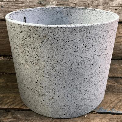 grey round pot