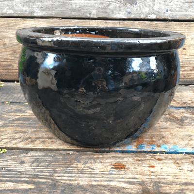 black glazed bowl