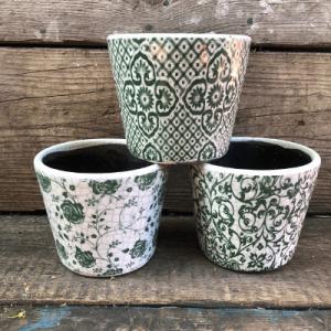 set green dutch pots